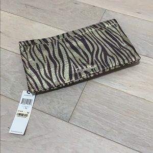 BCBG Zebra sequins clutch